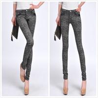 2014 spring plaid pants women's pencil pants casual long trousers