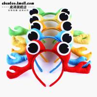 36g game props halloween Christmas supplies animal hair accessory crab headband