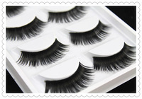 False eyelashes Professional thick fake lashes nude makeup eyelash extensions 5 pairs per pack W39- Free shipping 204691