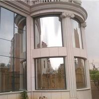 0.5x5 Meter Balcony anti-uv solar film silver one-way glass heat-insulating film