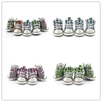 Bling Bling Leopard Pattern Pet Products Dog Shoes PU Shoes Footwear Brand Boots Five Color With XS S M L XL Free Shipping
