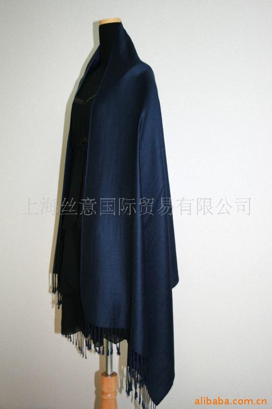 2015 Stylish Korean Version Navy Blue Women's Pashmina Shawls Craves Cape Solid Color Wrap Free Shipping(China (Mainland))