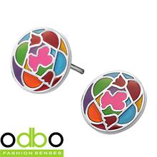 Free Shipping HOT Sale Fashion jewelry Seven Color Teddy Bear lady Stainless Steel earrings Women stud Earrings Ornaments DT216