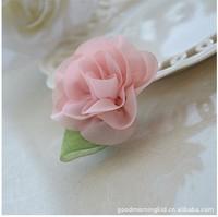 2014 Korean new style hair accessories chiffon rose flower cute kids hair clip wholesale