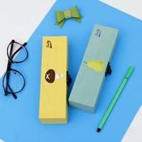 NEW creative fruit theme  wood pencil case stationery box