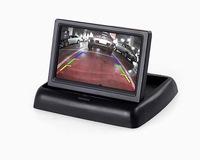 Foldaway 4.3 inch TFT LCD display monitor car DVD players LCD monitor Color Car Rearview Monitor for Car Reverse camera