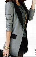 Female blazer slim fashion outerwear spring and autumn medium-long plus size casual thin suit