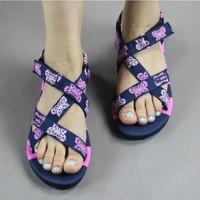 2014 Women's summer sandals flat slippers natural rubber female flat sandals women's shoes