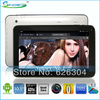 New Quad Core Allwinner A31S Tablet PC 10.1Inch Android 4.4 1G 16GB ROM 1.5GHz 2160P 1024*600 Screen Dual Camera HDMI Bluetooth