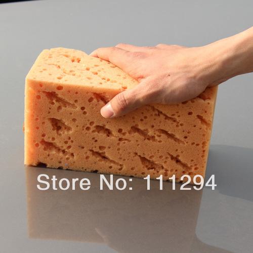 Large honeycomb car wash sponge coral waxing sponge absorbent sponge car(China (Mainland))
