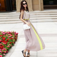 New 2014 Women Spring and Summer Sarafan Maxi Dress Women's Fashion Long Chiffon dress Girl bohemian dress Free Shipping