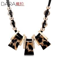 Fashion gold statement jewelry Tassel chain Leopard choker necklaces 2014 women Wholesale TN204