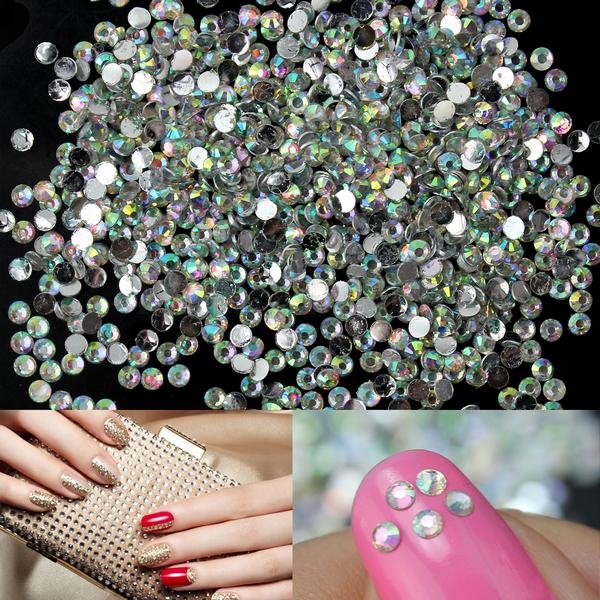 1000x Hot Sale Multicolor Nail Art Tips Crystal Glitter Rhinestone Craft DIY Decoration(China (Mainland))