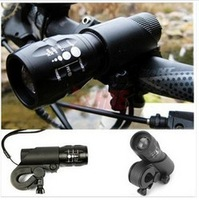 FREE SHIPPING New Cycling Bike Bicycle LED Flashlight Front Head Light with mount