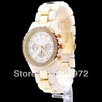 Luxury Famous Brand /w Logo Gold Beling Crystal Shockproof Steel Silicon Quartz Wrist Watch for Women Man