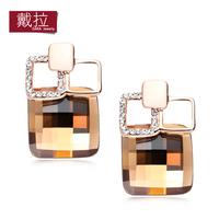 2014 fashion brand big rhinestone crystal Stud earrings for women TE388