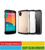 A+++ Quality SGP SPIGEN Slim Armor Case For Google Nexus 5 Mobile Phone Bag Cover With Retail Package 8 Colors Wholesale 50pcs/l