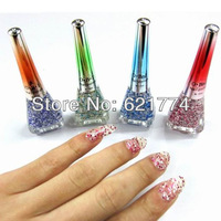 2014 New Hot Sales 24pcs/lot Fashion DIY Glitter Nail Polish Oil Nail Art Makeup Nail Varnish