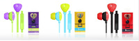 KEEKA chica headset MIC-101 fashion mobile phone headset headphones headset for MP3 MP4 MP5 player 3.5mm socket