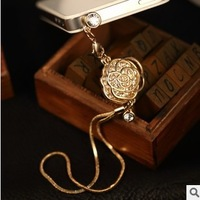 Min.order is $ 10 (Mix order) Free Shipping new 2014 Rose dust plugs for cell phones phone plug charms dust cap