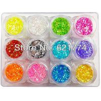 2014 New Hot Sales 12 Colors DIY Glitter Nail Kit Makeup Nail Polish Oil Nail Art Decoration Nail Varnish