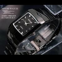 Men Full Steel Watch Fashion Sinobi Luxury Brand Black Quartz Watches Men relogio masculino