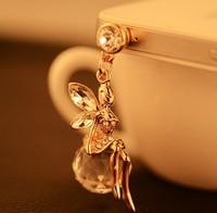 Min.order is $ 10 (Mix order) Free Shipping new 2014 angel dust plug phone accessories diamond cap earphone jack