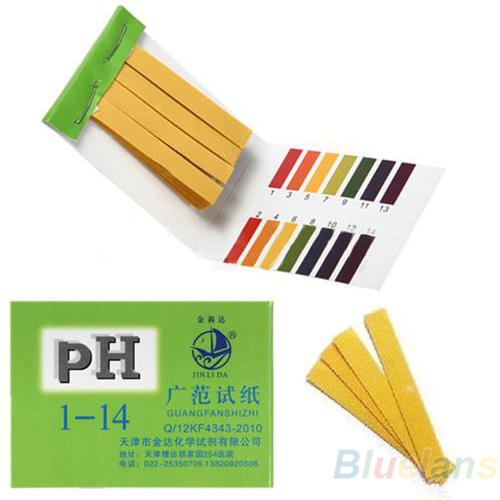 80 Strips Full Range pH Alkaline Acid 1-14 Test Paper Water Litmus Testing Kit 1NRI(China (Mainland))