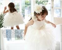 Snow White ! 2014 new girl's princess wedding dress female Children's lace dress baby girl new year party ball flower dress
