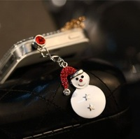 Min.order is $ 10 (Mix order) Free Shipping new 2014 snowman dust plug phone accessories earphone jack cellphone dust cap