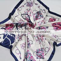 FREE SHIPPING Size 90x90cm Silk Square Scarf Women Brand High Quality Cheap Imitated Silk Satin Scarves Polyester Shawl Hijab