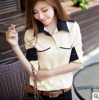 2014 new Casual Chiffon blouse was thin  casual elegance long-sleeved shirt r370