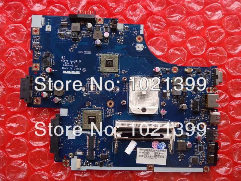 5551 5551G Free Shipping Laptop motherboard for Toshiba LA-5912P 5551 5551G AMD Integrated GM fully tested 60 days warranty(China (Mainland))