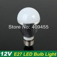 Wholesale (10pieces/lot) E27 AC/DC12V Led Bulb 3w 4w 5w 6w 7w 9w Warm White light /White light LED Lighting Bulb Lamp