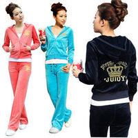 2014 new autumn and summer women sport clothes set female Hooded fleece sweatershirt r356