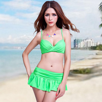 High Quality Sexy Bikini Swimwear For Women 3 in 1  Skirted Bikini Swimsuit Ladies Plus Size Beach Bathing Suits XX-124