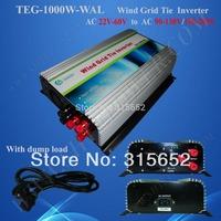 1000W Grid Tie Inverter With Dump Load Controller AC 22V-60V Input For Wind Turbine System