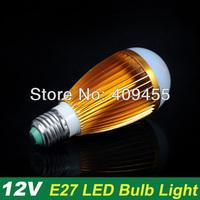 Wholesale(10pieces/lot)Led Bulb AC/DC12V E27 9w 7w 6w 5w 4w 3w lighting Warm white / White light LED Light Bulb Lamp