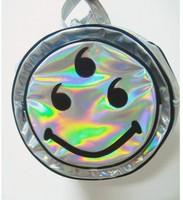 2014 New Promotion Smile Hologram Backpack Hologram Shoulder Message Bag Designer's Bag