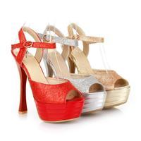 Woman Party Sandals Shoes Big Summer Shoes Platform Sandals 2014 Fashion