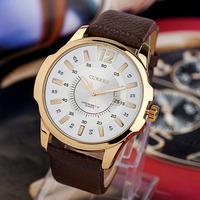 Retail 2014 New Men's Quartz Watch,Hot Sales CURREN Brand Men Genuine Leather Strap with Calendar Date Analog Wrist Watches