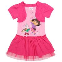nova kids brand clothing printing dora hot summer baby girls cotton party princess causal evening dress