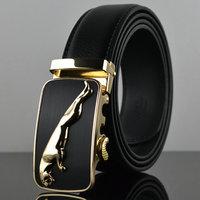 Man leather designer belts 2014 trendy leopard pattern metal buckle waistband hip belt 87718-1#