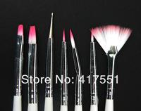 Professional nail  tools,phototherapy brush stroke,brush for nails pen,combination brush pen,7 pieces,fan nail art brush