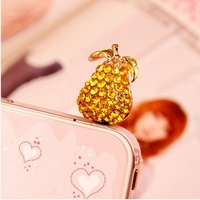 Min.order is $ 10 (Mix order) Free Shipping Papaya dust plug cell phone plug charms accessories for mobile phone earphone plug