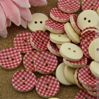 New Round Painting Kids Child Diy wooden buttons bulk wood button mixed for crafts 2014-53