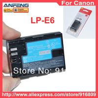 New High Capacity LP-E6 LPE6 E6 digital camera batteries for canon EOS 5D EOS 60D EOS 7D bateria pil  free shipping 1pcs/lot