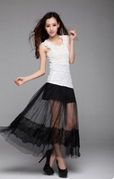 2014 Summer New Sexy Fantasy Perspective LACE Mesh Lace Skirt Bust Skirt Fairy