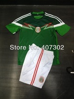 2014 Brazil World Cup Nation Team A+++ Mexico Green Home Good Quality Soccer Jersey/ Uniform Can Print Name, Number And Logo