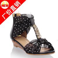 2014 Fashion Sandala Low Heel Sandals Shoes Girl Shoes